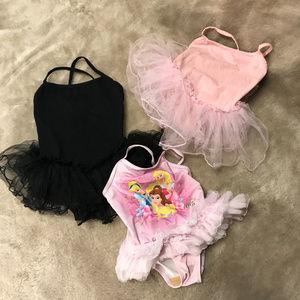 3/$25 3 piece lot ballerina bodysuit tutu Sz 3T/4T